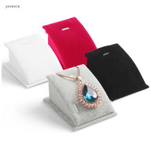 JAVRICK Velvet Pendant Necklace Chain Jewelry Display Stand Holder Organizer Show Rack NEW