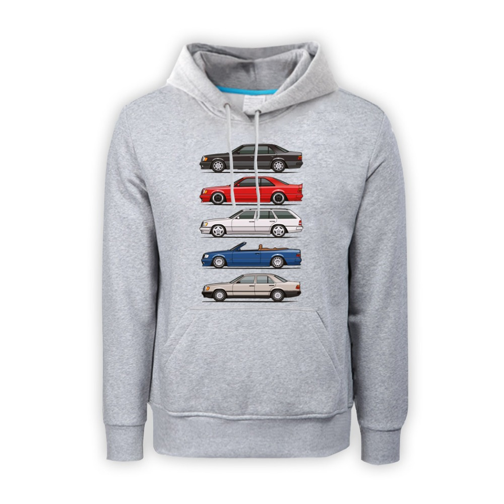 Stack of mercedes w124 e classic weatshirt mens pullover for Mercedes benz clothes and accessories