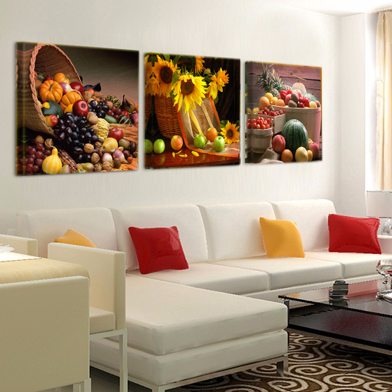 US $4.72 37% OFF|Canvas Painting Restaurant Fruit Grape Pumpkin Wall Art  Modern Modular Picture For Kitchen Decoration Poster T464-in Painting & ...