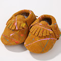 Genuine Leather First Walkers Printing Baby shoes Baby moccasins Suede Decorative pattern Baby boys Shoes Free shipping