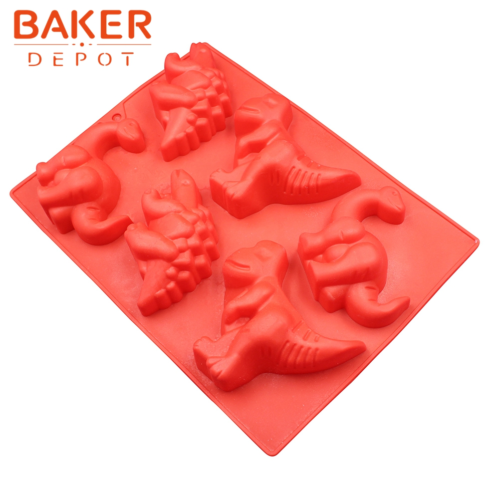 <font><b>BAKER</b></font> <font><b>DEPOT</b></font> Silicone cake bakeware mold dinosaur silicone pudding pastry molds handmade soap mould novelty bread dessert tools image
