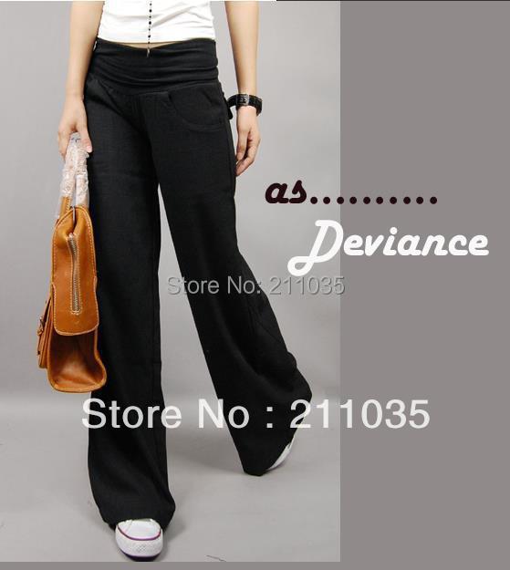Hot Sale Vysoce kvalitní Plátěné Nohavice Kalhoty Rovný typ Dámské Neformální Kalhoty Vysoce kvalitní Plátěné kalhoty, r93
