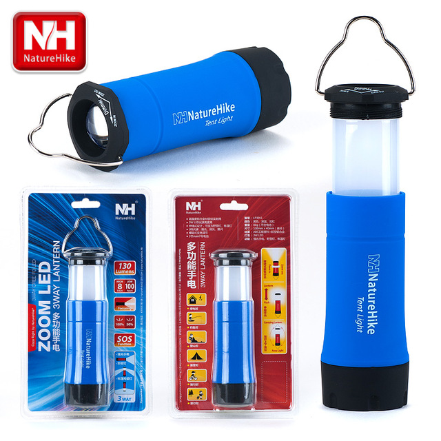 Naturehike Brand High Quality 3 ways Super Bright Multifunctional Camping Light tent lamp flashlight Outdoor Emergency