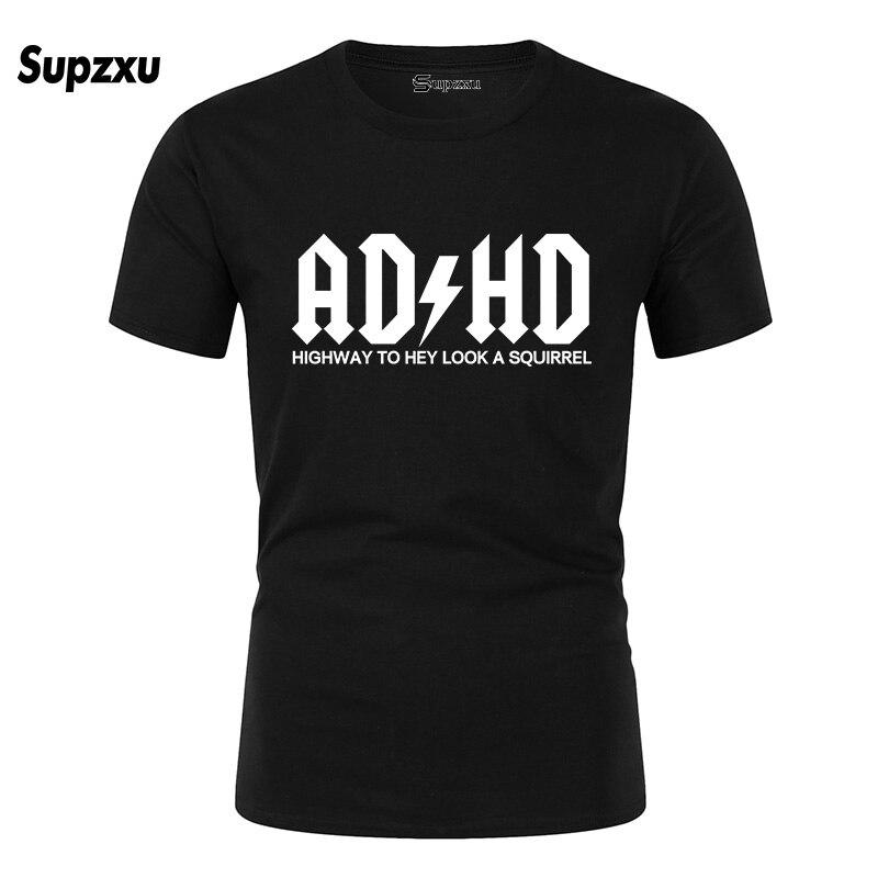 Cartoon Rock Crime Men T-shirts AC DC T Shirt Mens ADHD Graphic T-shirts Print Casual Tshirt Hip Hop Short Sleeve Cotton Top