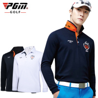PGM Brand Mens Outdoor Fit Polomens Golf Polo Shirts Quick Dry Long Sleeve Golf T Shirts