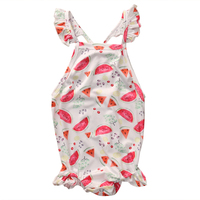 Print Cotton backless Romper Newborn Infant Baby Boys Girls Summer 2017 new arrival fashion Jumpsuit Clothes Age 0-24M