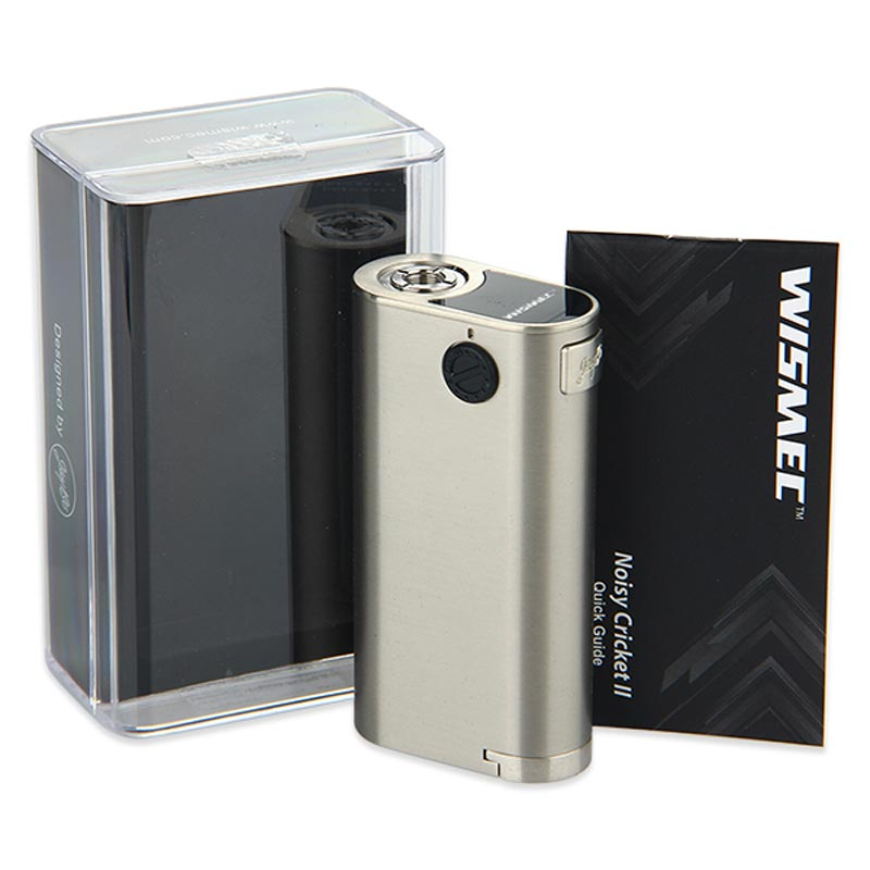 Original WISMEC Noisy Cricket 2 Box MOD 25mm Diameter Electronic Cigarette Upgrad Noisy Cricket Mod Vaping without 18650 Battery самокат small cricket 611