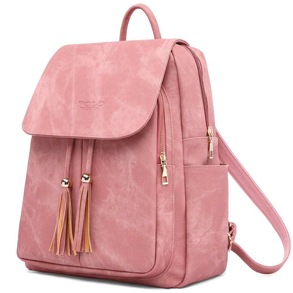 Women Backpack Youth Leather Backpacks For Teenage Girls Female School Shoulder Bag Mochila
