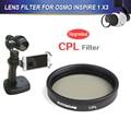 Venda quente dji inspire 1 osmo cpl lens filtro para zenmuse dji inspire 1 osmo x3-circular polarizador filtros