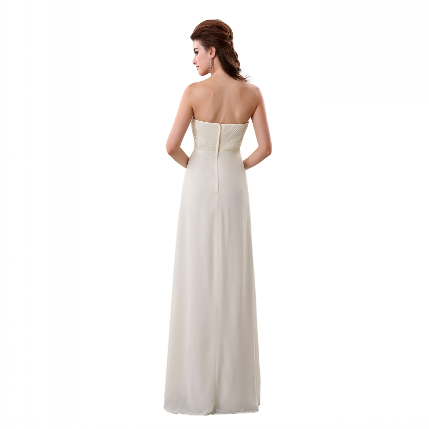 Vestido De Noiva falte Chiffon Schatz Schulterfrei Brautkleid 2017 ...