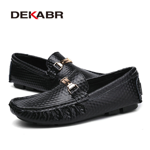 Image 4 - DEKABR Brand New Slip On Casual Shoes Men 2021 Top Fashion Loafers Mens Moccasins Shoes Handmade Driving Flats Shoes For Men