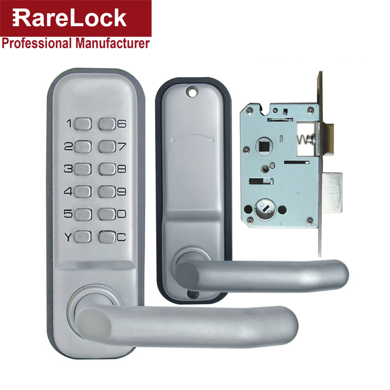 Rarelock Christmas Supplies Combination Handle Door Lock With Keys For Office