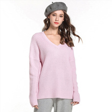 2019 New Fashion Women Sweater Spring Summer Slim Fit Solid Color Leisure Upper Outer Garment Beach Long Sleeve pullover
