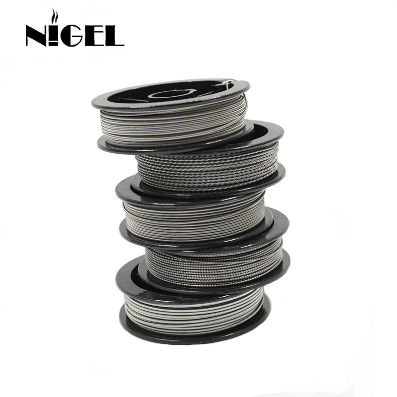 Nigel Kantal A1 Electronic Cigarette Heating Wire 24g 26g 28g 30g 32g For RDA RTA Vape Tank DIY Prebuilt Coil Resistance Wire