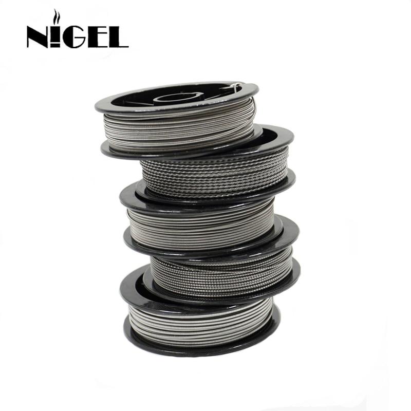 Nigel Kantal A1 Electronic Cigarette Heating Wire 24g 26g 28g 30g 32g For RDA RTA Vape Tank DIY Prebuilt Coil Resistance