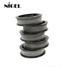 Nigel Kantal A1 Electronic Cigarette Heating Wire 24g 26g 28g 30g 32g For RDA RTA Vape Tank DIY Prebuilt Coil Resistance