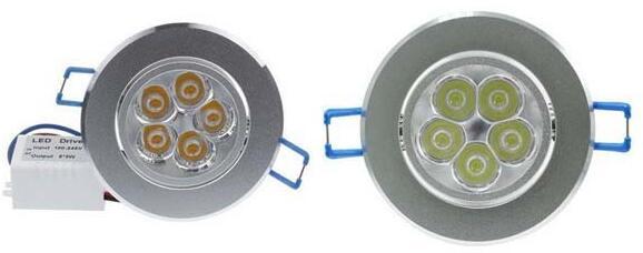 10pcs / lot 9w 12w 15w kølig hvid varm hvid dæmpbar LED Indbygget - Indendørs belysning - Foto 4