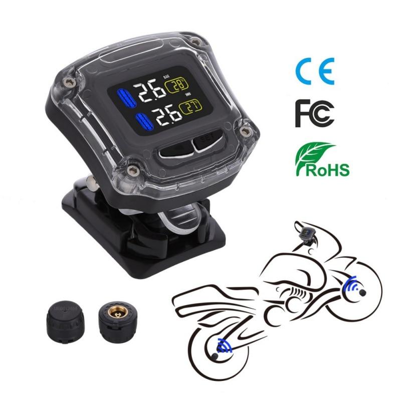 M3 sem fio lcd sistema de monitoramento pressão dos pneus da motocicleta tpms sensor externo monitor em tempo real anormal alarme moto pneu ferramenta