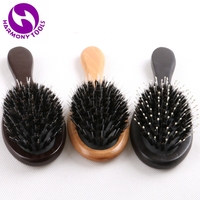20 Pieces Wooden Handle Hairbrush Boar Bristle Hair Brush Comb with plastic pins for comb hair Professional Hair Tools
