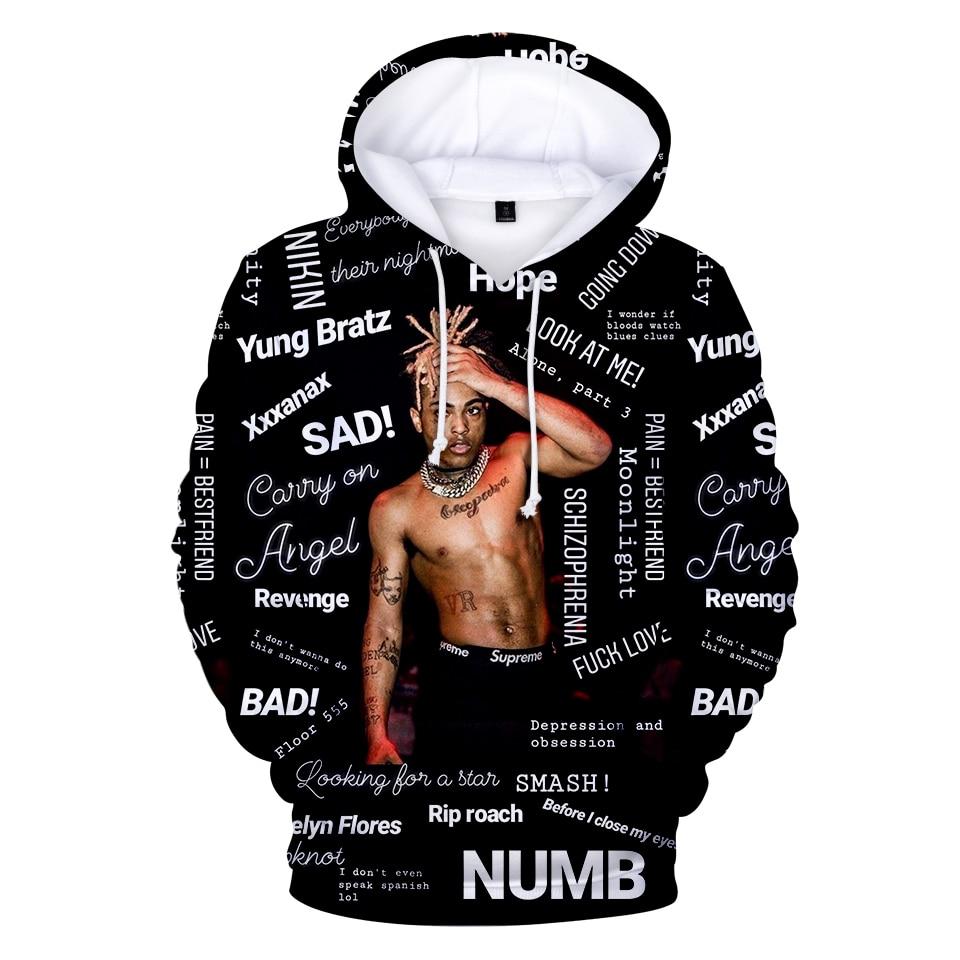 Hoodies Sweatshirt 3d-Print Xxxtentacion Men's/boys Men/women with Raper And