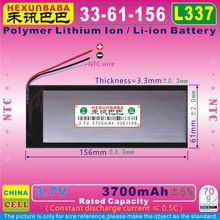[L337] 3.7V 3700mAh [3361156] PLIB ( polymer lithium ion / Li-ion battery ) for power bank;MP4;tablet pc,cell phone,speaker(China)