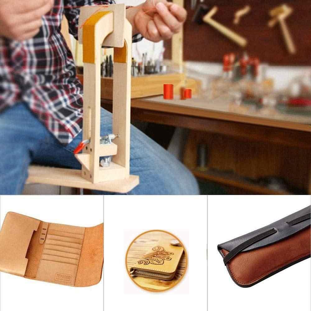 Дерево кожевенное ремесло ручная строчка Пони кожа ремесло шнуровка Швейный Стол Сделай Сам Настольный инструмент