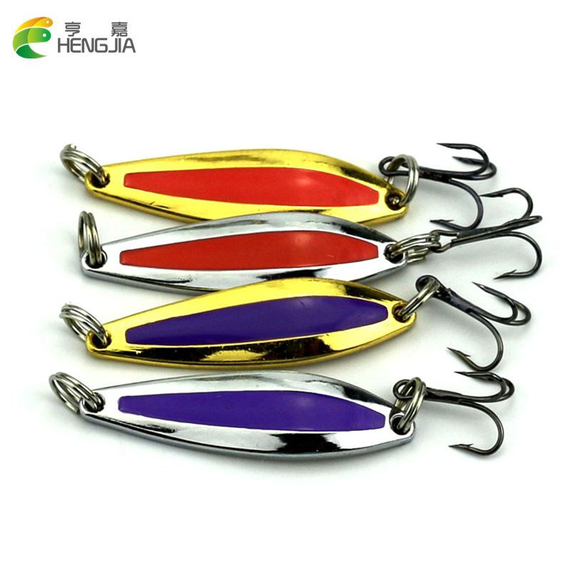 <font><b>HENGJIA</b></font> 4pcs/<font><b>lot</b></font> Spoon Fishing Lure Metal Lures Hard Baits Spoon <font><b>iscas</b></font> <font><b>artificiais</b></font> <font><b>2016</b></font> 3d pesca peche carp fishing tackle Lure
