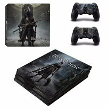 Bloodborne Decal Skin Sticker For Sony Playstation 4 PS4 Pro promotion Console protective Flim +2Pcs Controller