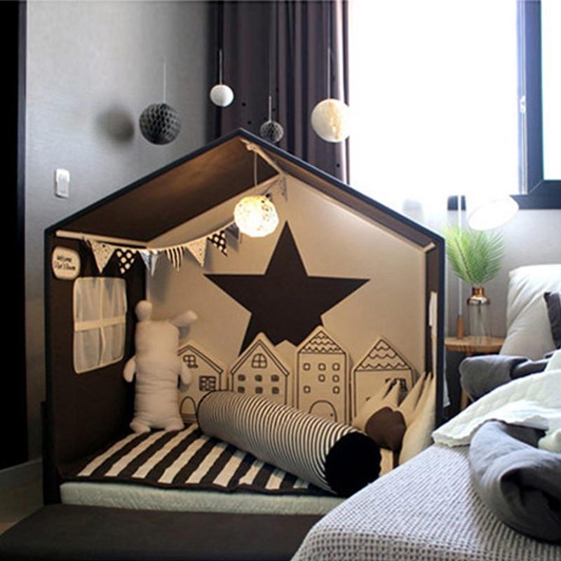 KAMIMI Leuke Baby Bed hek 4 stuks een set mooie Spons huis Bed hek babybed set veilige bescherming