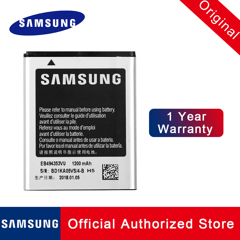 100% Original EB494353VU For <font><b>Samsung</b></font> Galaxy Mini S5570 Galaxy pocket star <font><b>S5300</b></font> S5820 batteria <font><b>Battery</b></font> akku 1200mAh+tracking no image