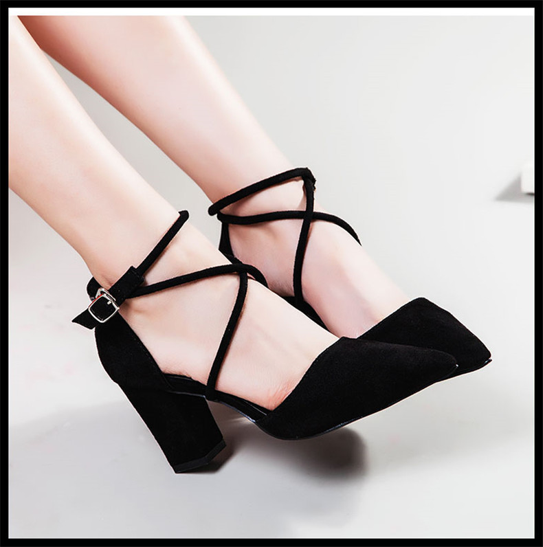 2019 new arrival Women Pumps Pointed Toe Ladies High Heels Bridal black color good quality-in Women's Pumps from Shoes    2