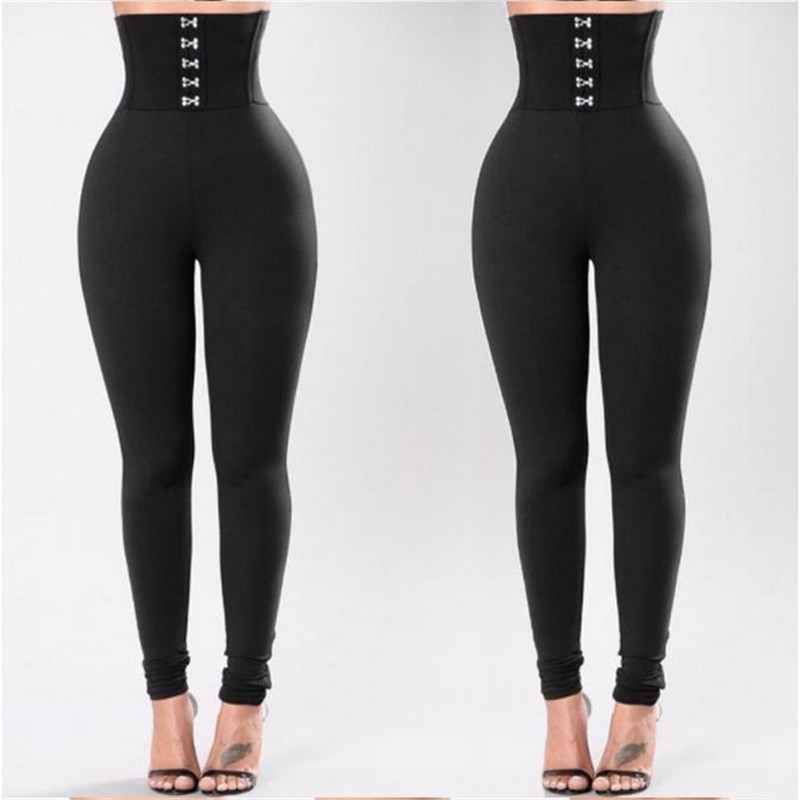 Women's Sports Gym Running Fitness Pants High Waist Leggings Pants Clothes Ladies Fashion Leggings New 2019 Polyester Black Pant