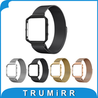 23mm Milanese Loop Band Metal Frame For Fitbit Blaze Smart Fitness Watch Strap Stainless Steel Magnetic