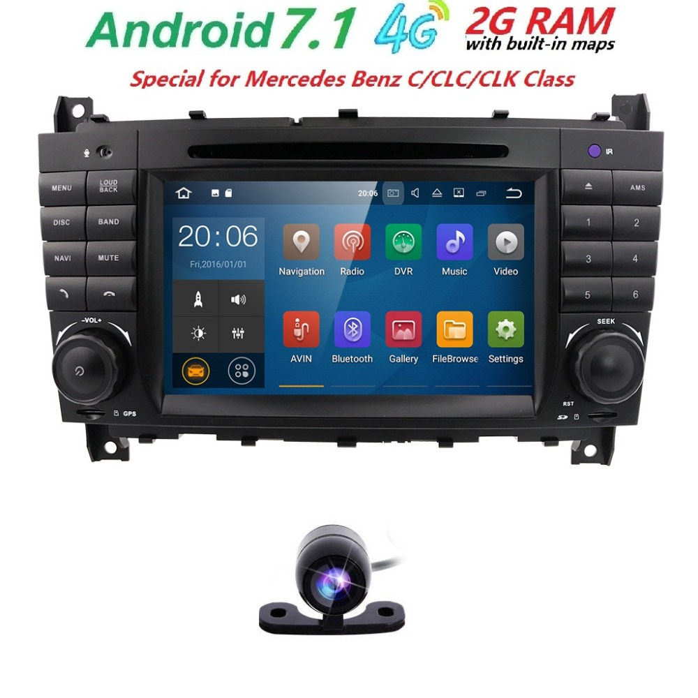 2 din autoradio car dvd player for mercedes benz c classs clc w 203 7 inch 2 din car radio gps android 71 car dvd player for mercedes benz c fandeluxe Choice Image