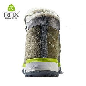 Image 5 - RAX hommes bottes de randonnée en cuir véritable chaussures hiver randonnée bottes pour hommes en plein air chaud randonnée chaussures baskets chaussures de marche homme