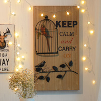 American Country Retro Paintings Hanging Wall Decorative Wrought Iron Cage Bar Strap Crafts 36 23