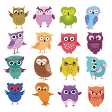 Cute Cartoon Owl Patch Easy Print By Household Irons T-Shirt Diy Decoration Parches Ropa A-Level Washable Iron On Patches
