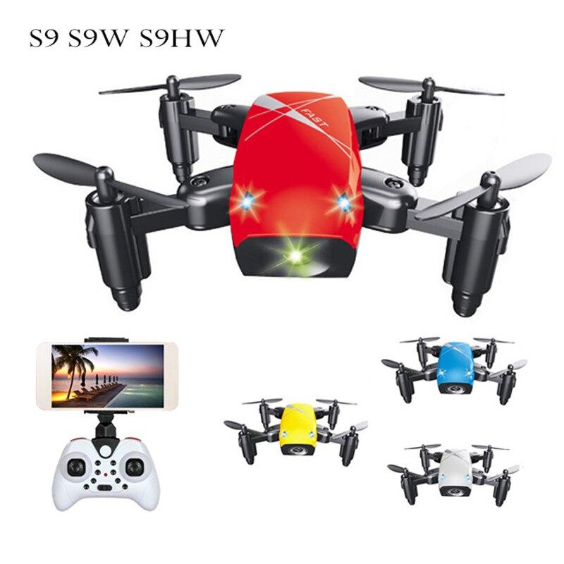 S9 S9W S9HW Drone plegable RC Mini Drone Micro bolsillo Drone RC helicóptero Quadcopter con HD cámara de altitud Wifi FPV Drone