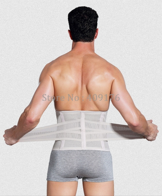 Correct Back Belt PRAYGER Sweat Body Waist Cinchers Slimming Abdominal Body Shaper Belt Men Fit Waist Trainer Girdle 4
