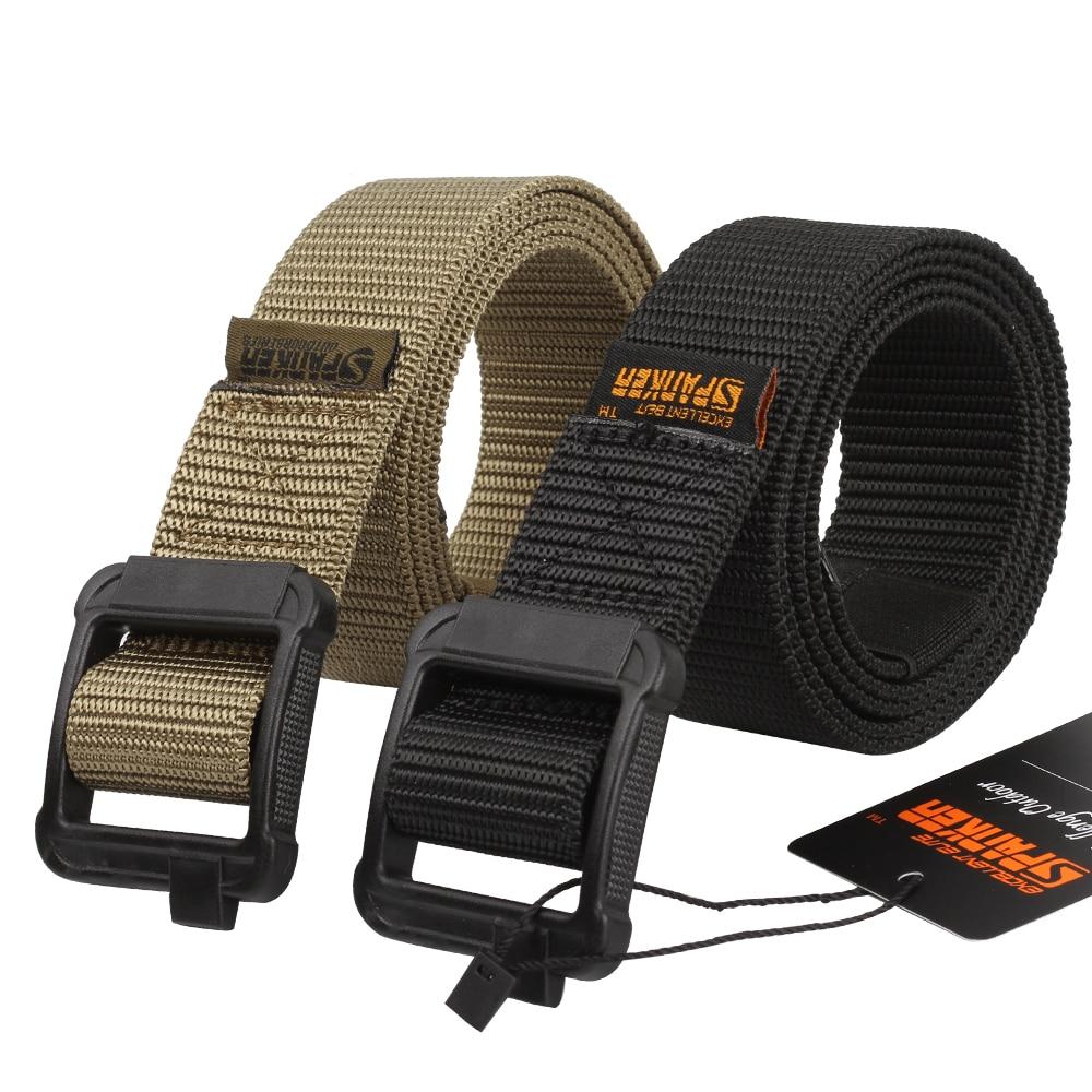 Hiking Sports Buckle Adjustable Canvas Belt Waistband Tactical Military Nylon