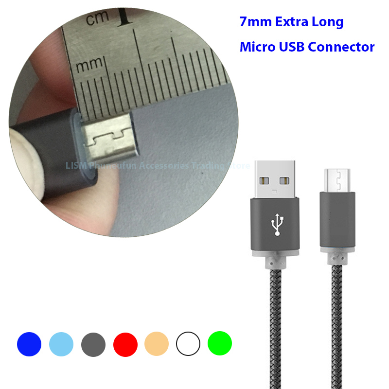 Micro 7mm 1 m USB Plug for Oukitel k6000 pro C8 K3 Leagoo KIICAA Power m9 PPTV King