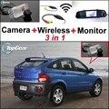 3 in1 Especial Cámara de Visión Trasera + Receptor Inalámbrico + Sistema de Copia de seguridad Aparcamiento Monitor del espejo Para SSangYong Actyon Tradie Korando