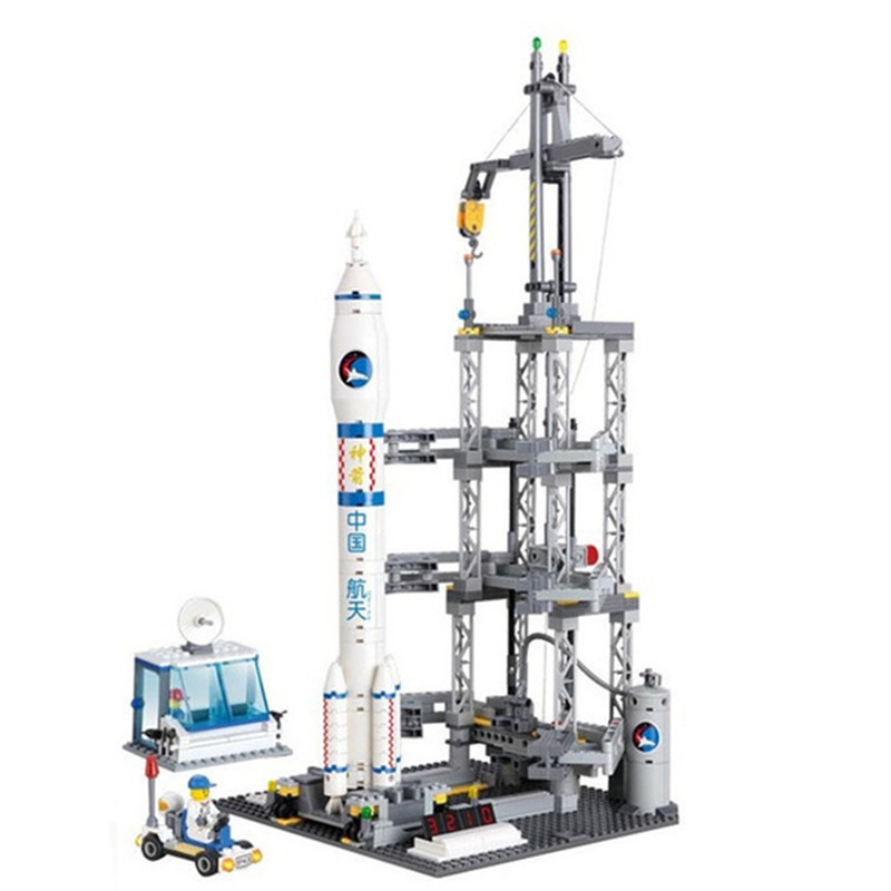 822pcs Space Series Rocket Station Building Block set Kids DIY Educational Bricks Toys Christmas Gift 83001 cheerlink zm 81 3mm neodymium iron diy educational toys set silver 81 pcs