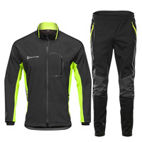 Winter High Quality Cycling Clothing Windproof Thermal Man Bicycle Set Full Sleeve Warm Cycling Pants Full Zipper Cycling Sets