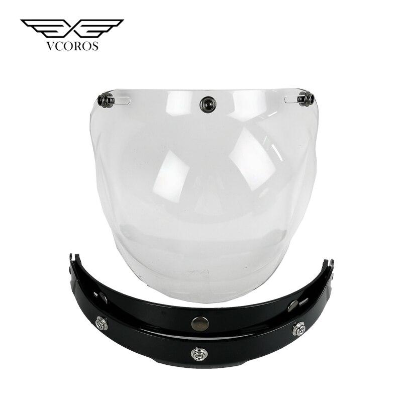 Blase Schild Motorrad Helm Gesicht Schild winddicht Roller Moto Helm Hlass Mit Flip Up Helm Glas Objektiv