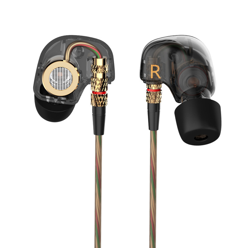 ყურის ყურის ყურის KZ ATE სპილენძის მძღოლი HiFi 3.5 მმ ყურის ყურსასმენის ხმა