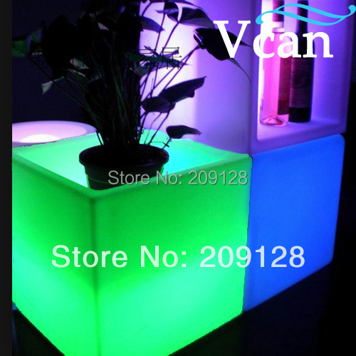 Rechargeable battery rgb control with remote or swtich waterproof ip67 LED Garden Pot   V V-E005