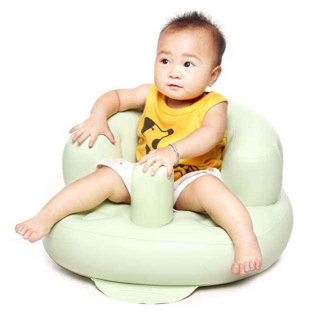 Inflable silla de bebé baño taburetes portátil asiento de los niños de los cabritos de alimentación aprender a Sit jugar juegos sofá baño de gran buen ayudante