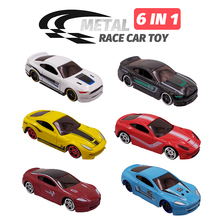 купить 6in1 Metal Car Toy Alloy Diecast Toys Vehiocle Model 6pcs Truck Race Car Play Set Mini Cars for Boys Gift for Kids дешево