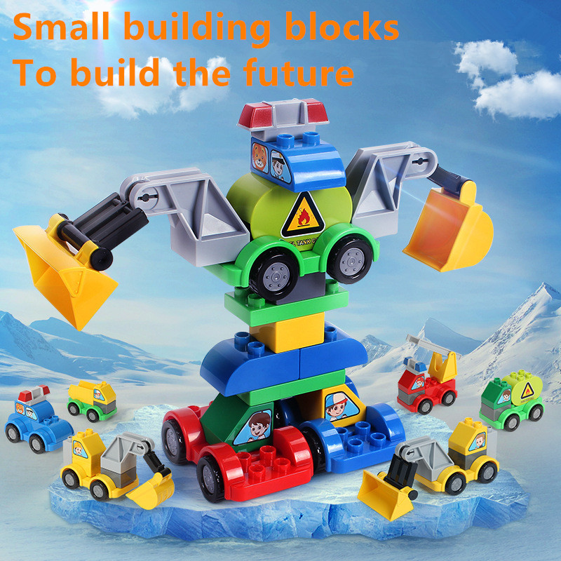 City Police Creator Vehicle Truck Car DIY Building Blocks Sets Educational Toys for Children Compatible LegoINGLY Duplo Bricks